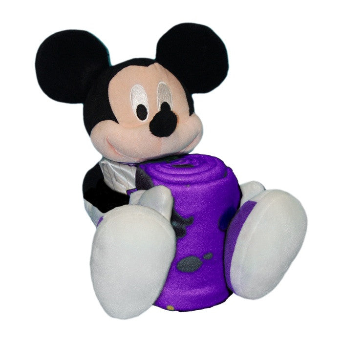 Los Angeles Lakers NBA Mickey Mouse Hugger with Throw - Sports Fans Plus