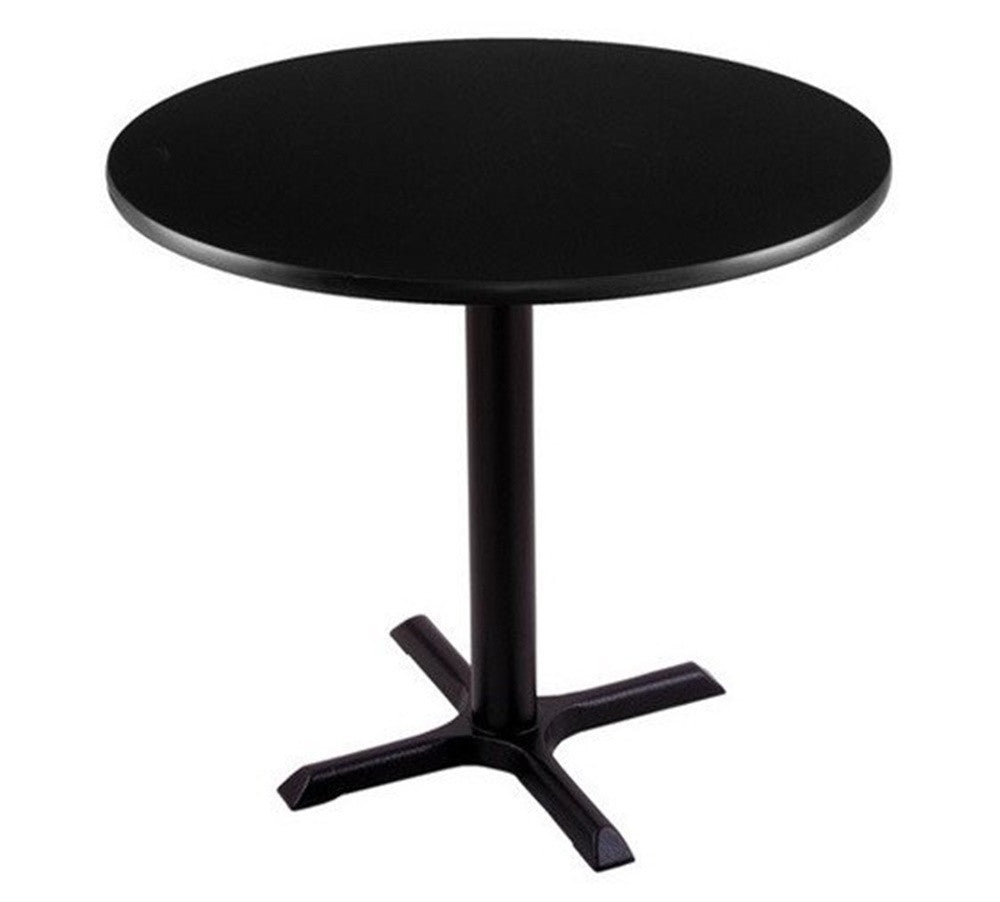 Black Round X-Base Commercial Table