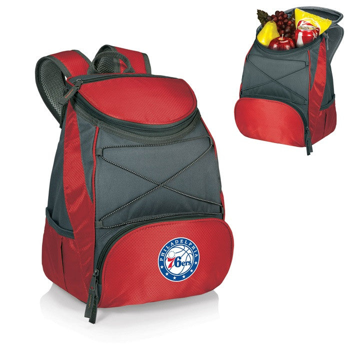 Philadelphia 76ers NBA PTX Red Backpack Cooler