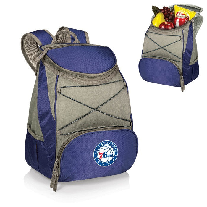Philadelphia 76ers NBA PTX Blue Backpack Cooler-2 - Sports Fans Plus