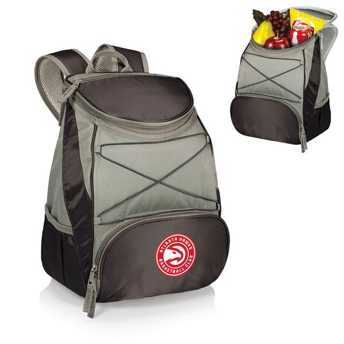 Atlanta Hawks NBA PTX Black Backpack Cooler