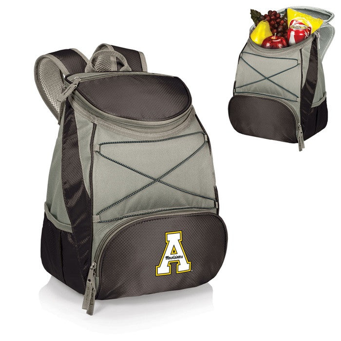 Appalachian State Mountaineers PTX Black Backpack Cooler