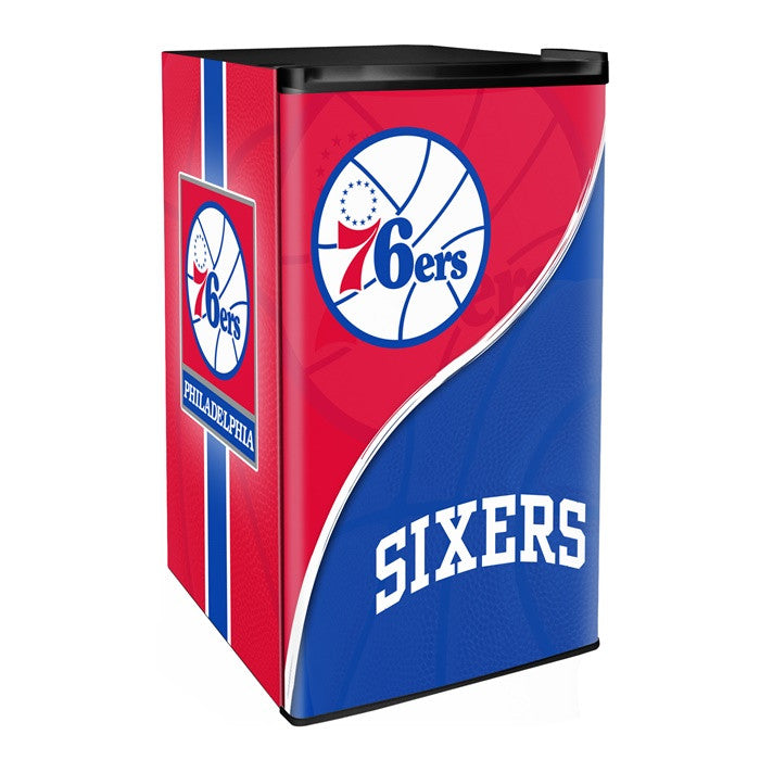 Philadelphia 76ers NBA Primary Counter Height Refrigerator - Sports Fans Plus  - 1