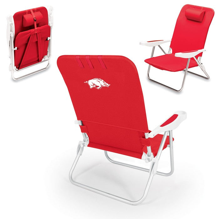 Arkansas Razorbacks Monaco Beach Chair - Sports Fans Plus