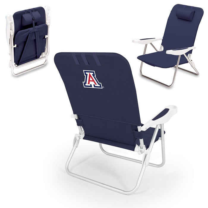 Arizona Wildcats Monaco Blue Beach Chair - Sports Fans Plus