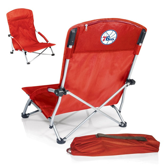 Philadelphia 76ers NBA Tranquility Red Beach Chair - Sports Fans Plus