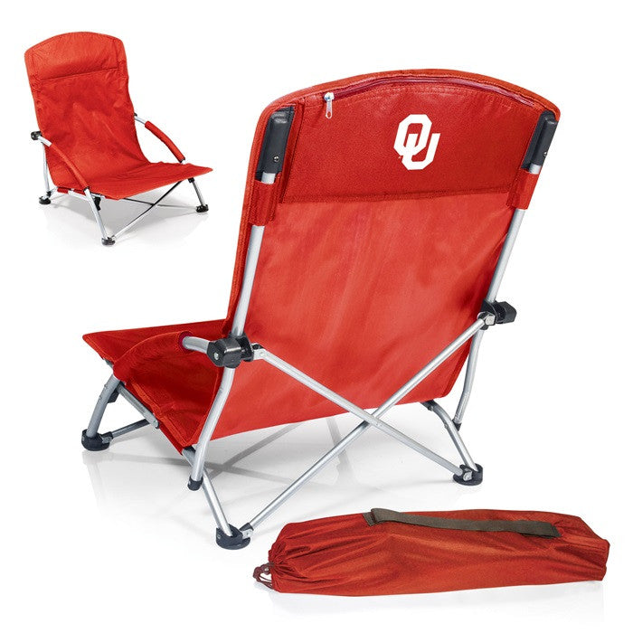 Oklahoma Sooners Tranquility Red Beach Chair - Sports Fans Plus