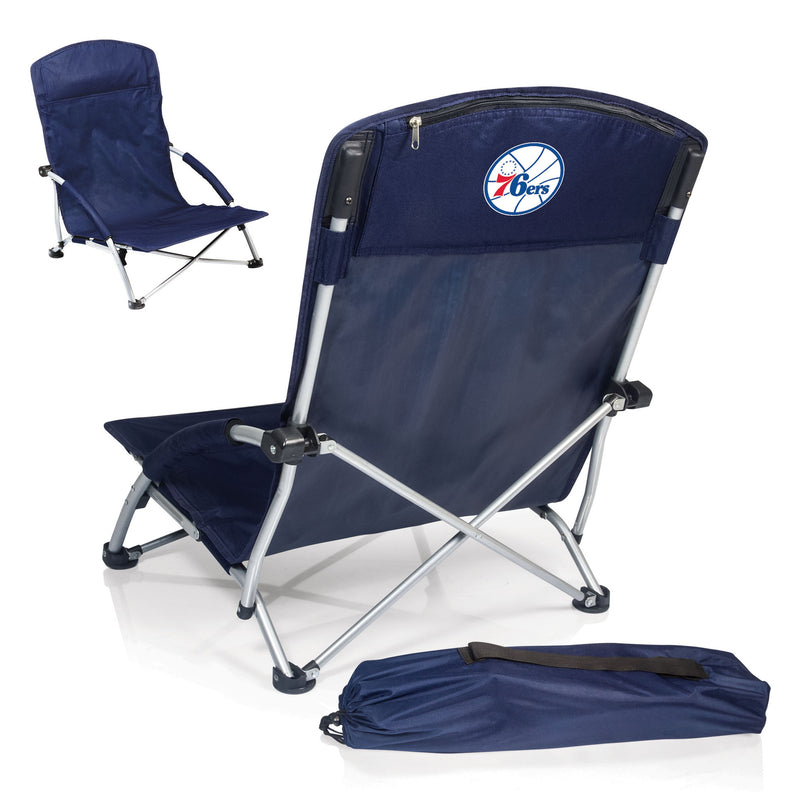 Philadelphia 76ers NBA Tranquility Blue Beach Chair - Sports Fans Plus