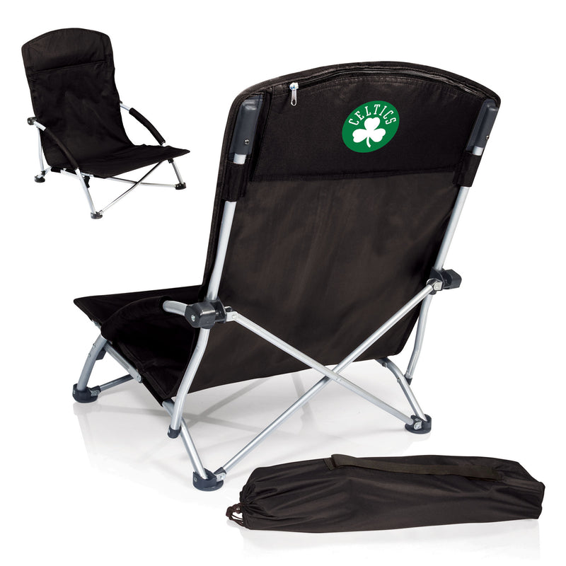 Boston Celtics NBA Tranquility Black Beach Chair - Sports Fans Plus