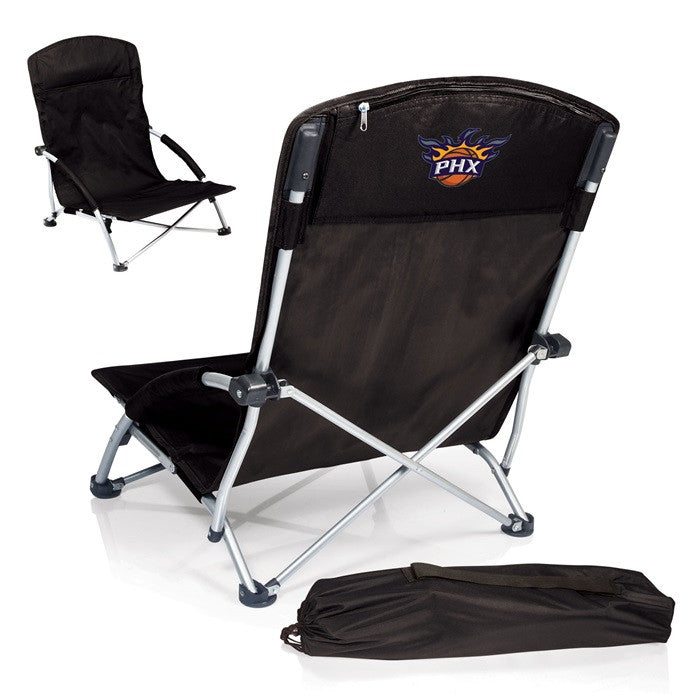 Phoenix Suns NBA Tranquility Black Beach Chair - Sports Fans Plus