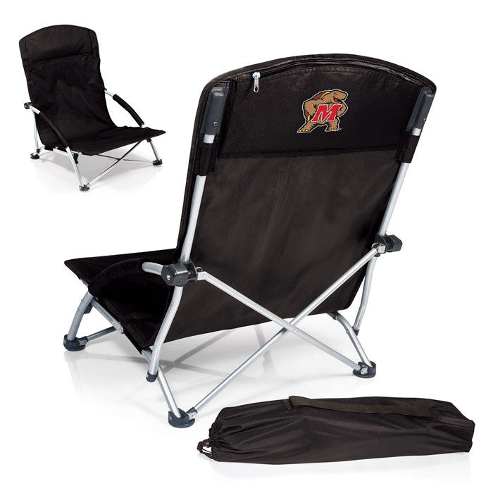 Maryland Terrapins Tranquility Black Beach Chair - Sports Fans Plus