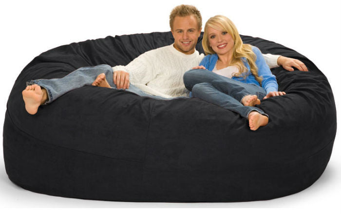 Black Microsuede 7-Foot Original Relax Sack - Sports Fans Plus