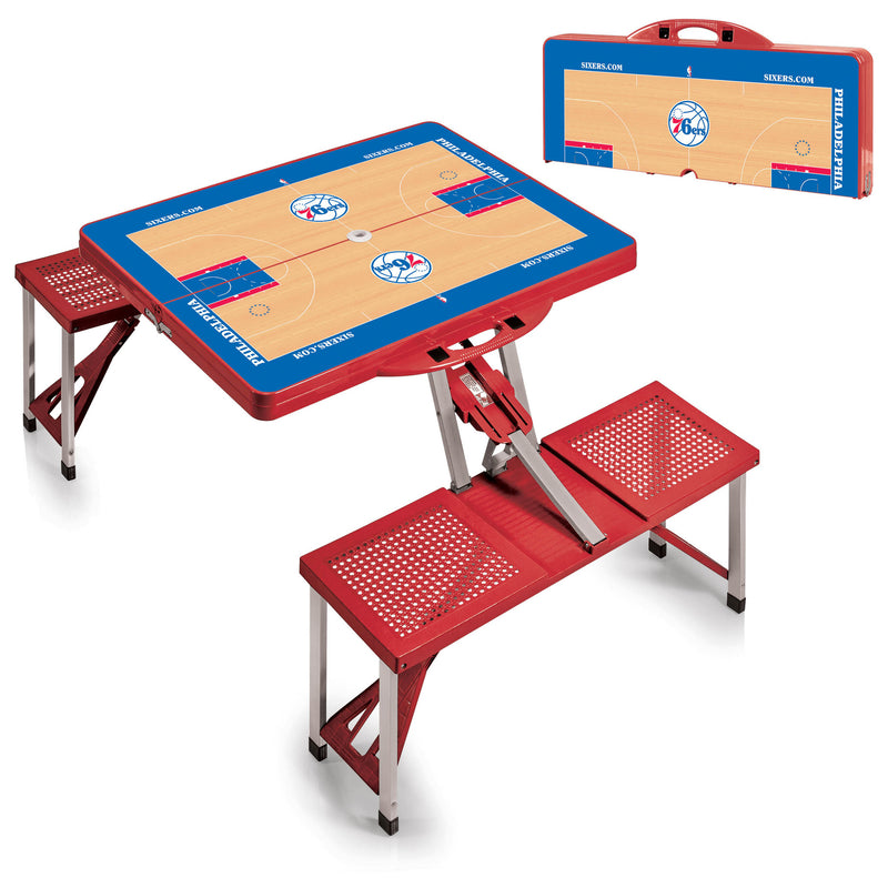 Philadelphia 76ers NBA Red Portable Picnic Table