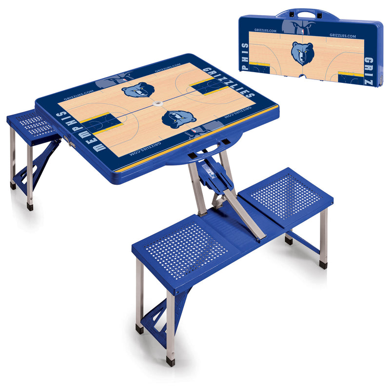 Memphis Grizzlies NBA Blue Portable Picnic Table