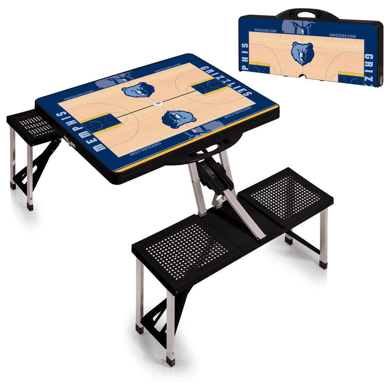 Memphis Grizzlies NBA Black Portable Picnic Table