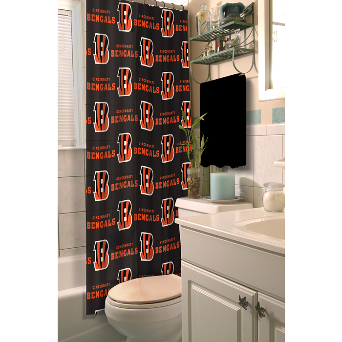 Cincinnati Bengals NFL Shower Curtain - Sports Fans Plus