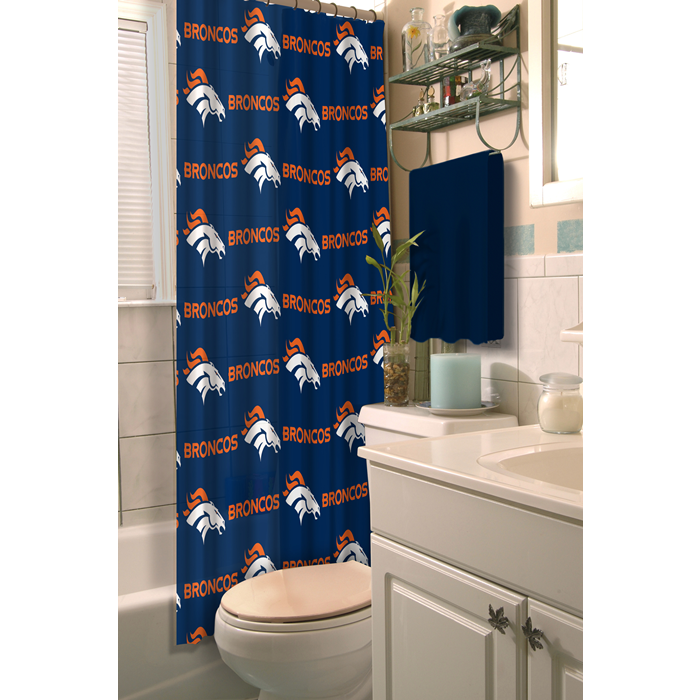 Denver Broncos NFL Shower Curtain - Sports Fans Plus