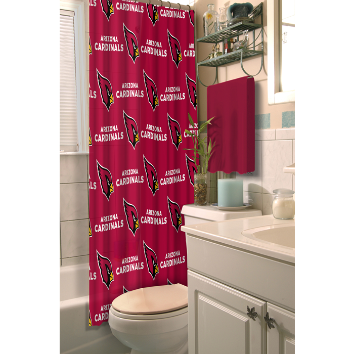 Arizona Cardinals NFL Shower Curtain - Sports Fans Plus