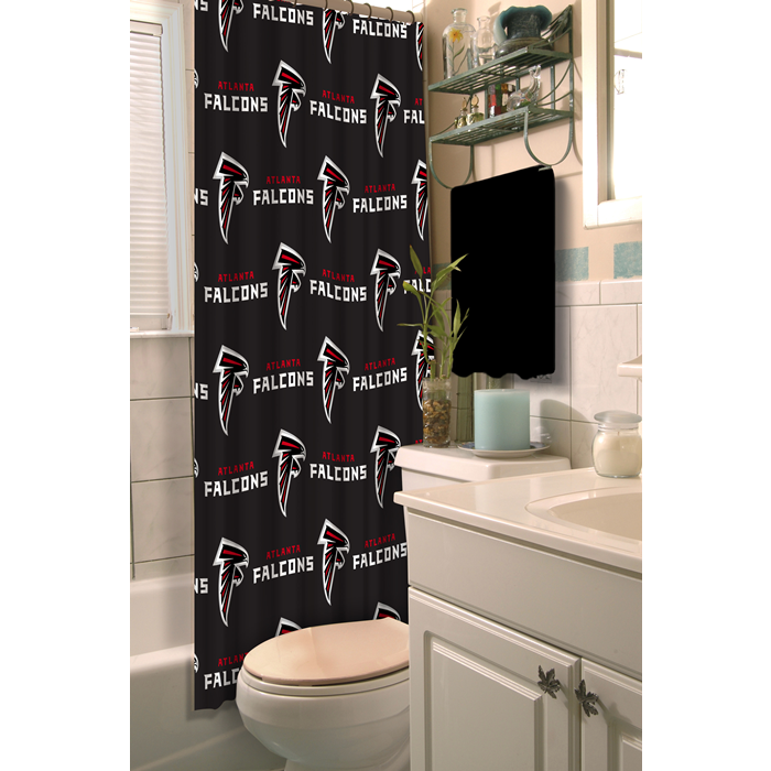 Atlanta Falcons NFL Shower Curtain - Sports Fans Plus