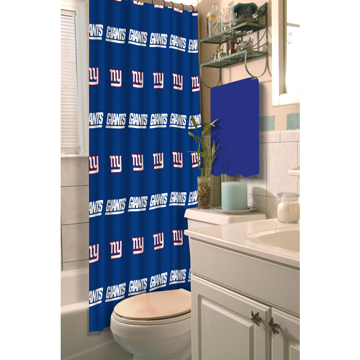 New York Giants NFL Shower Curtain - Sports Fans Plus