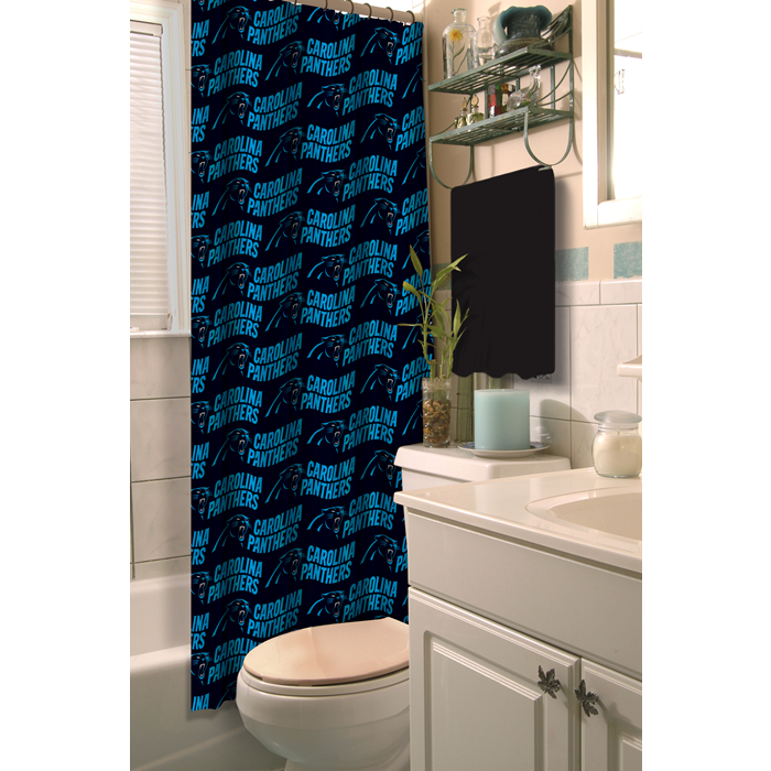 Carolina Panthers NFL Shower Curtain - Sports Fans Plus