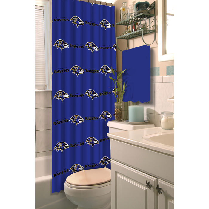 Baltimore Ravens NFL Shower Curtain - Sports Fans Plus