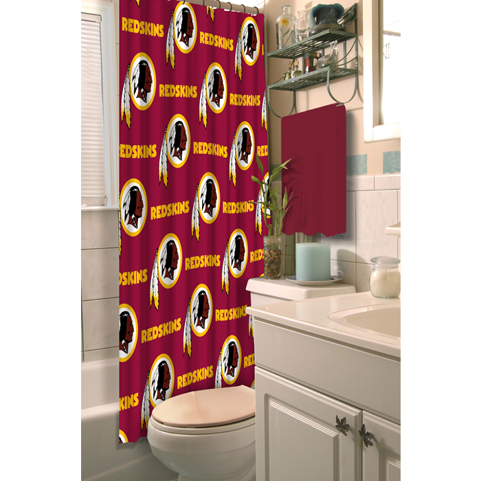 Washington Redskins NFL Shower Curtain - Sports Fans Plus