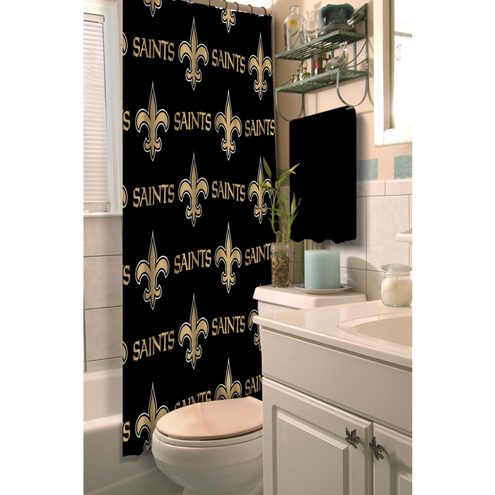 New Orleans Saints NFL Shower Curtain - Sports Fans Plus
