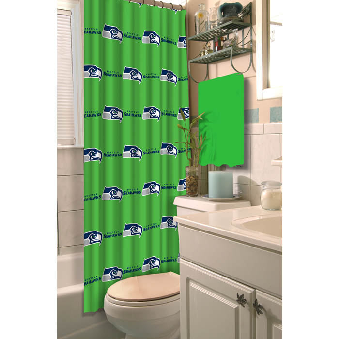 Seattle Seahawks NFL Shower Curtain - Sports Fans Plus