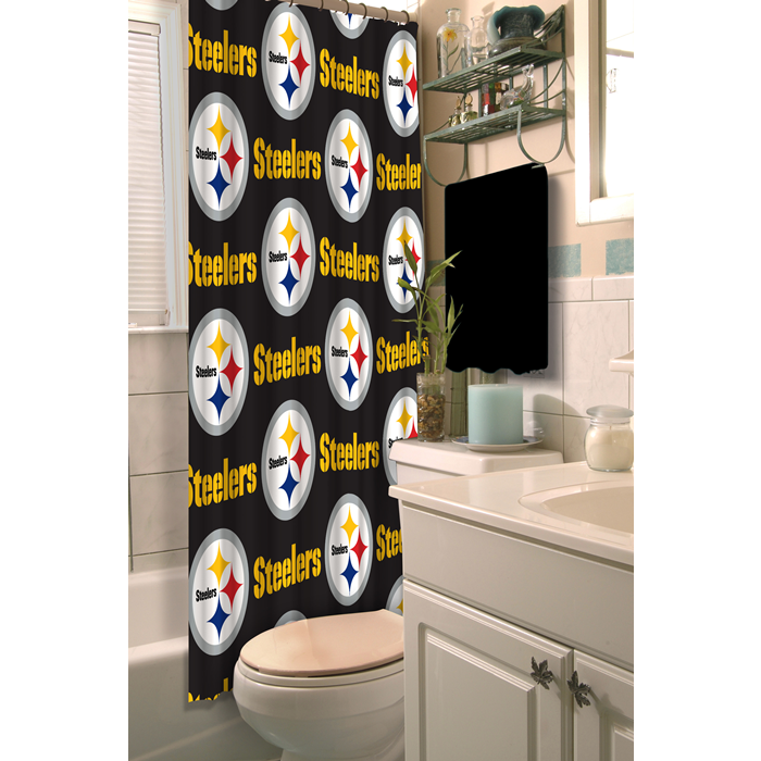Pittsburgh Steelers NFL Shower Curtain - Sports Fans Plus