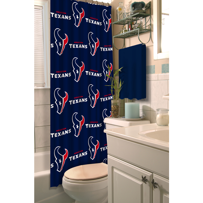 Houston Texans NFL Shower Curtain - Sports Fans Plus