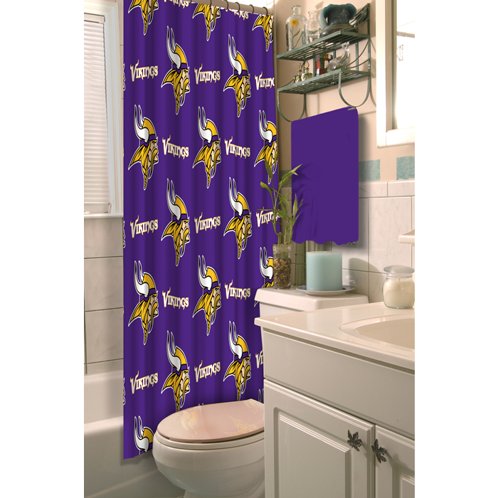Minnesota Vikings NFL Shower Curtain - Sports Fans Plus