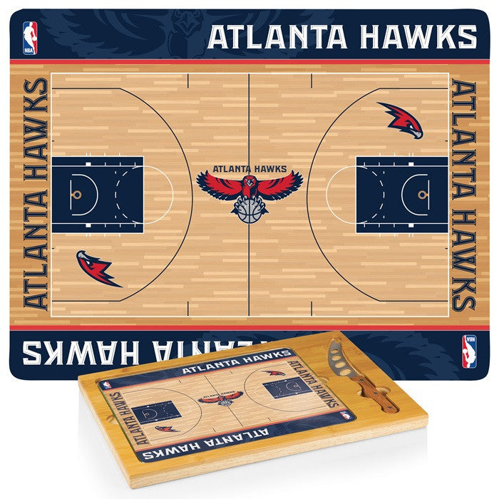 Atlanta Hawks NBA Icon Cheese Board - Sports Fans Plus