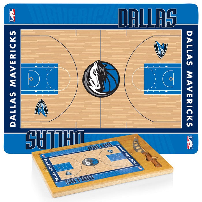 Dallas Mavericks NBA Icon Cheese Board - Sports Fans Plus