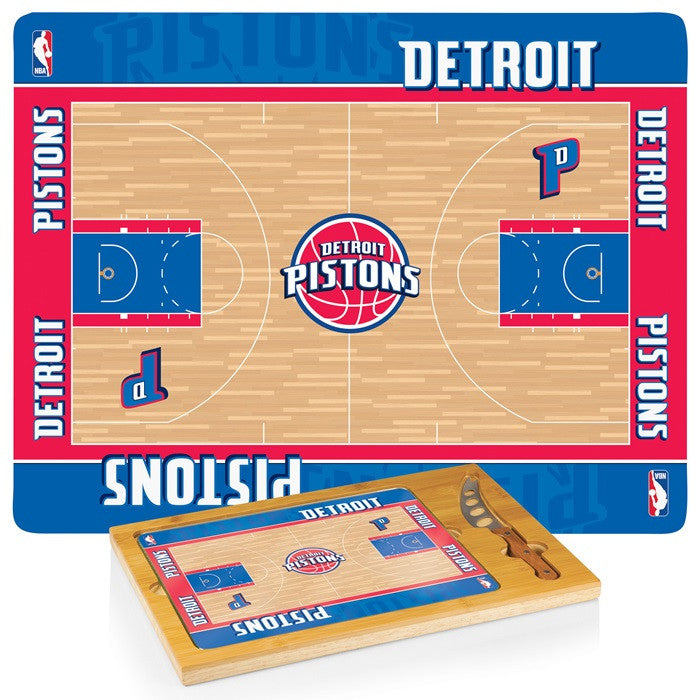 Detroit Pistons NBA Icon Cheese Board - Sports Fans Plus