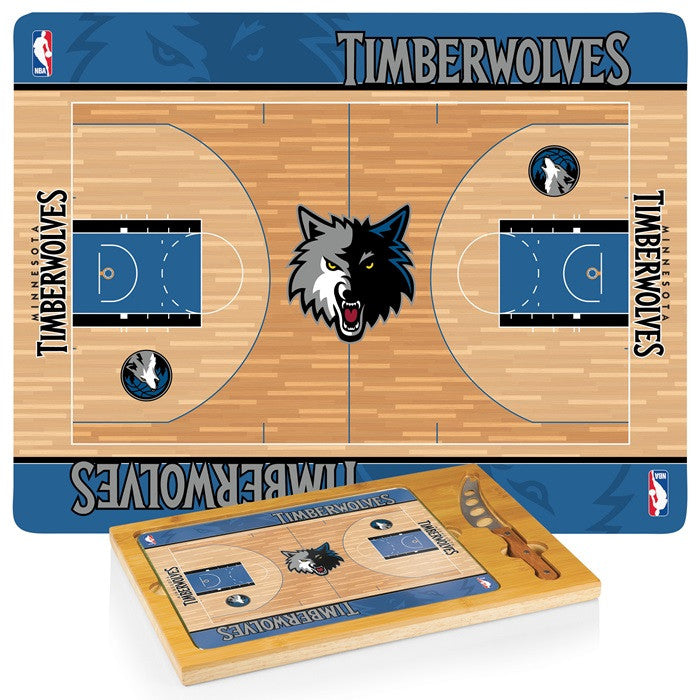 Minnesota Timberwolves NBA Icon Cheese Board - Sports Fans Plus