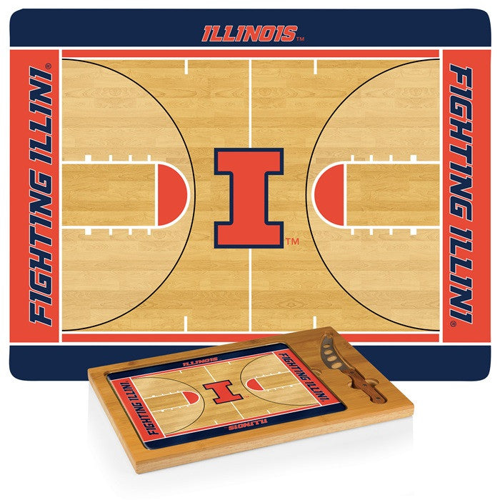 Illinois Fighting Illini BB Icon Cheese Board - Sports Fans Plus