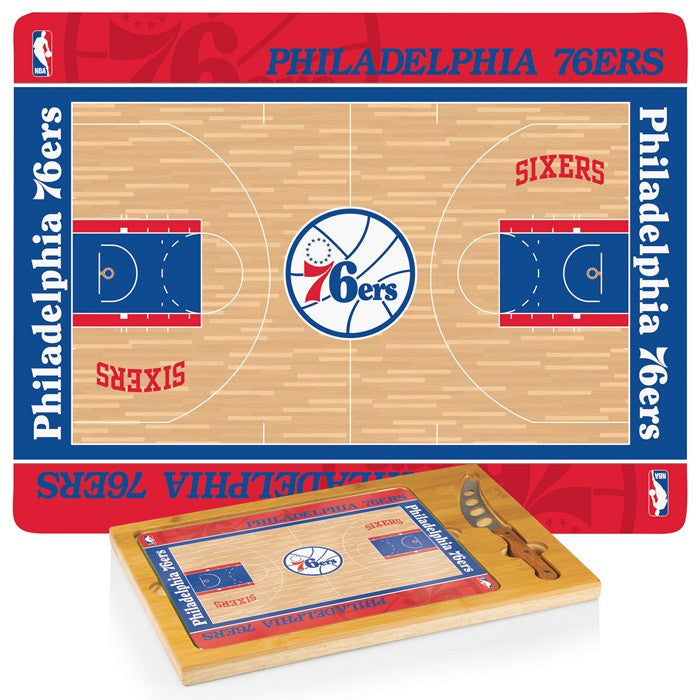 Philadelphia 76ers NBA Icon Cheese Board - Sports Fans Plus