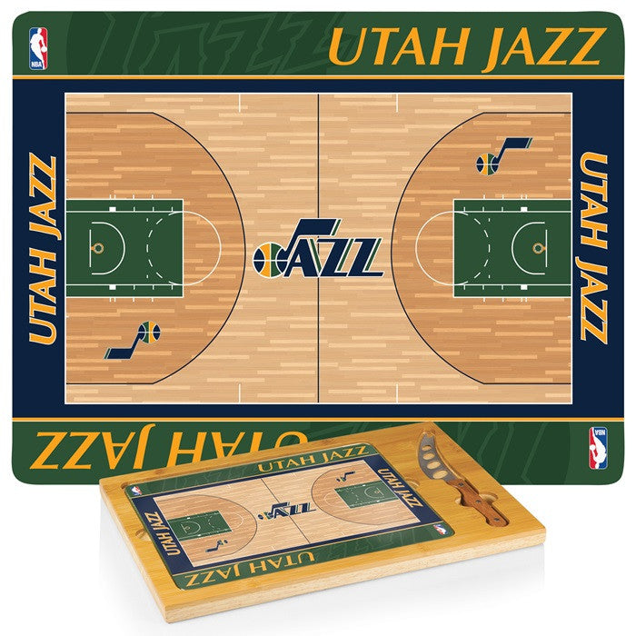 Utah Jazz NBA Icon Cheese Board - Sports Fans Plus