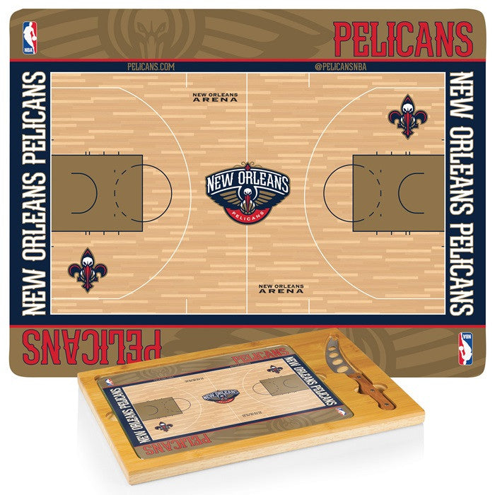 New Orleans Pelicans NBA Icon Cheese Board - Sports Fans Plus