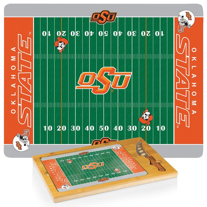 Oklahoma State Cowboys Icon Cheese Board - Sports Fans Plus