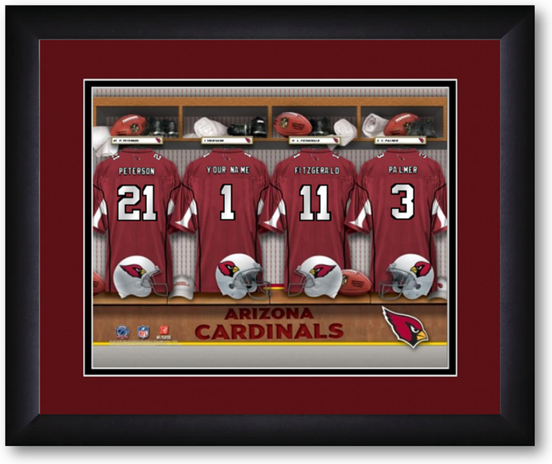 Arizona Cardinals NFL Personalized Locker Room Print