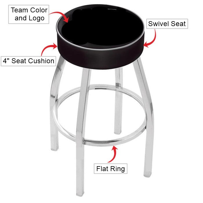 Oklahoma Sooners Chrome Bar Stool