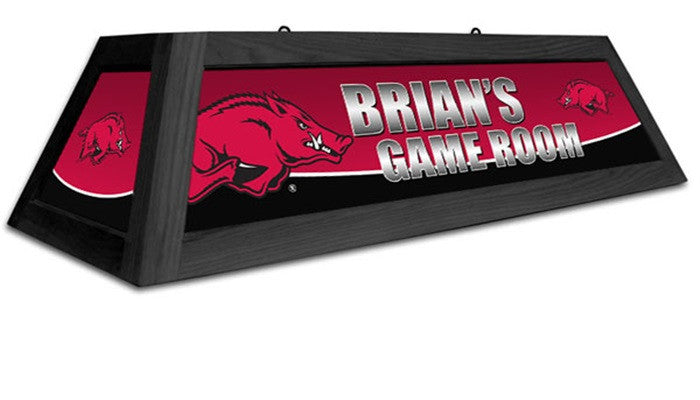 Arkansas Razorbacks Customizable Game Table Lamp - Sports Fans Plus
