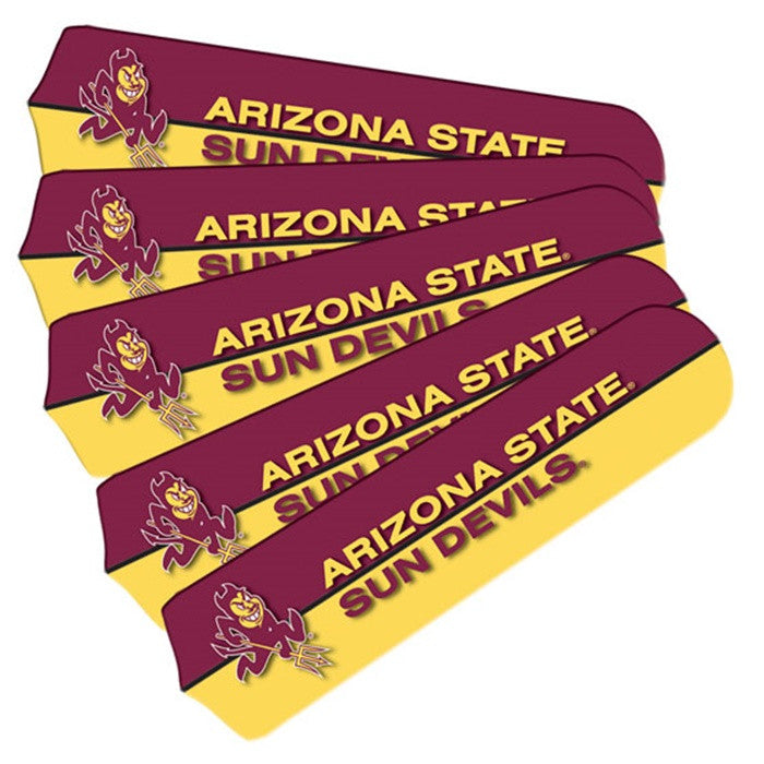 Arizona State Sun Devils 52-Inch Ceiling Fan Blade Set - Sports Fans Plus