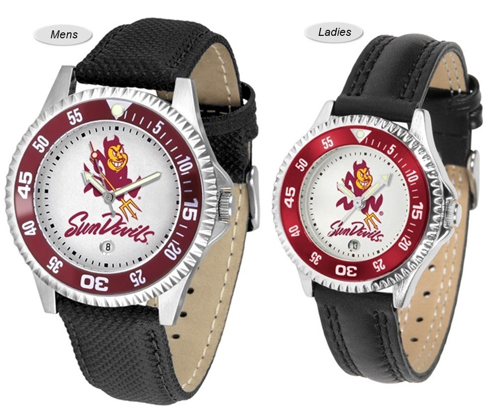 Arizona State Sun Devils Competitor Sport Leather Watch