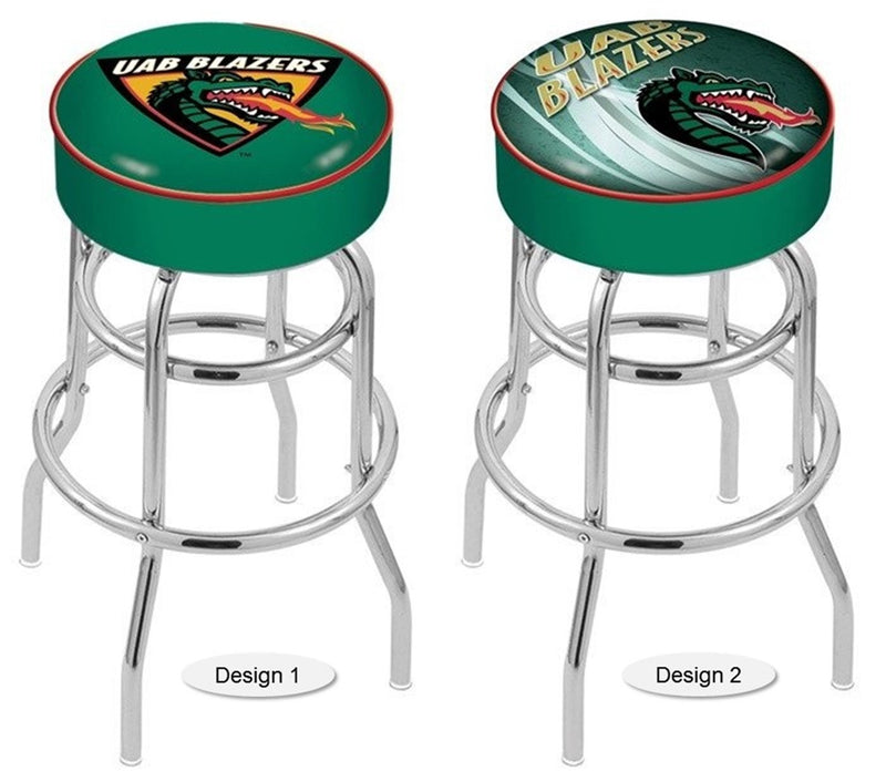Alabama at Birmingham Blazers Retro Chrome Bar Stool
