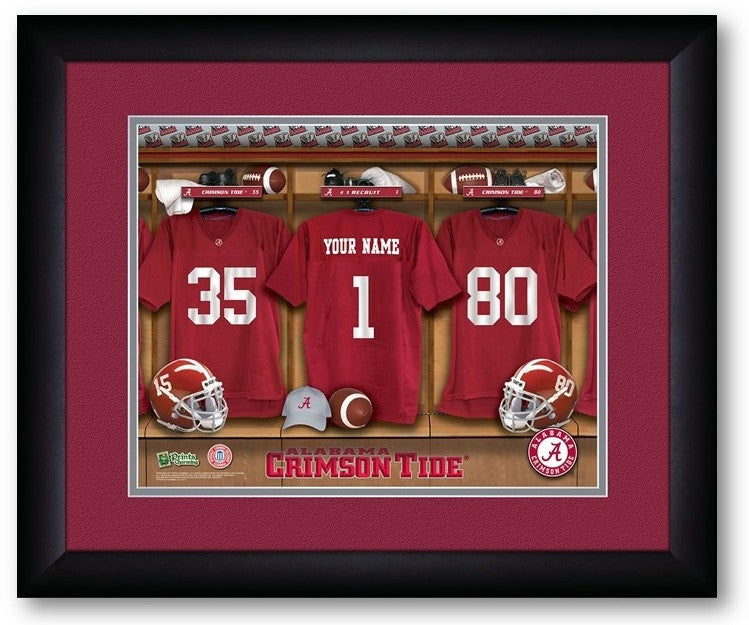 Alabama Crimson Tide Personalized Locker Room Print - SportsFansPlus.com