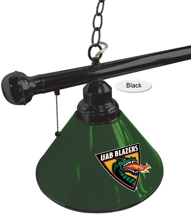 Alabama at Birmingham Blazers Black 3-Shade Billiard Light - SportsFansPlus.com