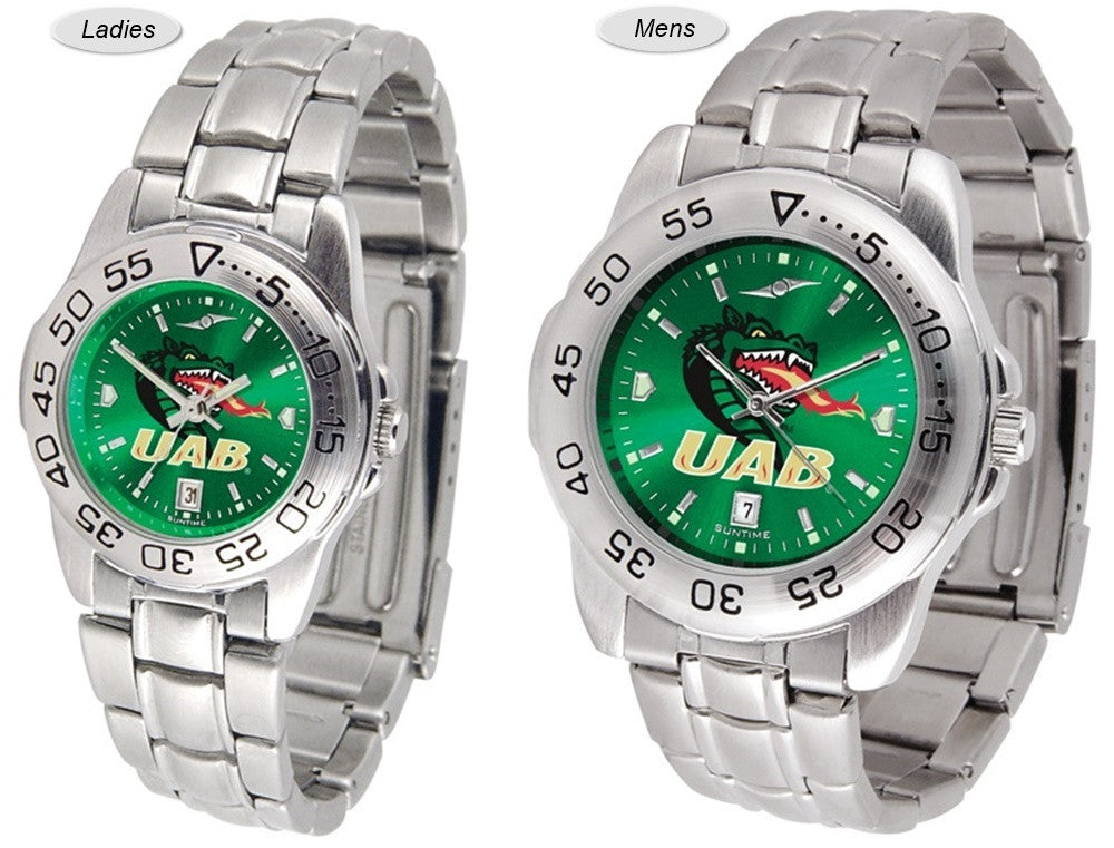 Alabama at Birmingham Blazers Sport Steel AnoChrome Watch